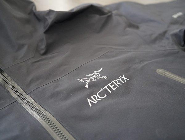 Chest Detail Mens Arcteryx Zeta Lt Jacket In Black