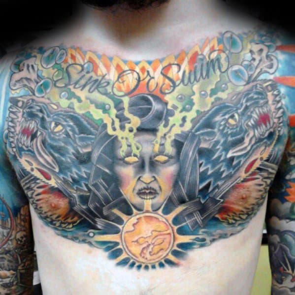 Chest Fortune Teller Crystal Ball Guys Tattoo Designs