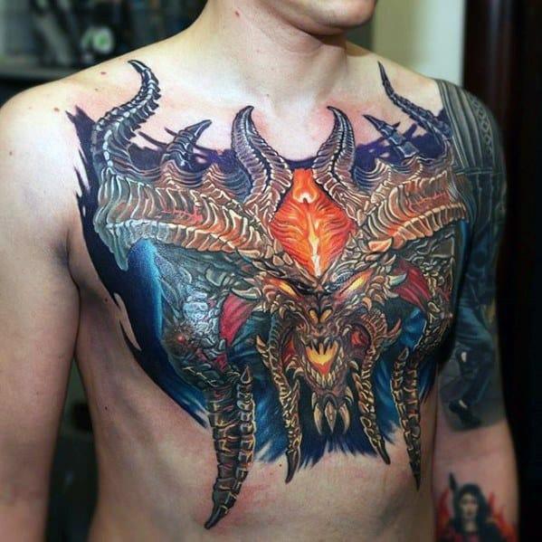 Chest Gamer Tattoos Men