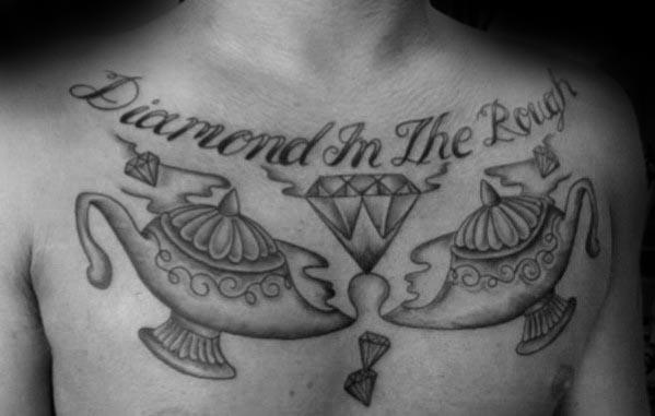 Chest Genie Lamp Guys Tattoo Ideas