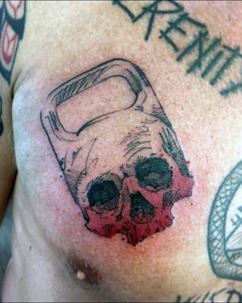 Chest Kettlebell Skull Sick Guys Crossfit Themed Tattoos