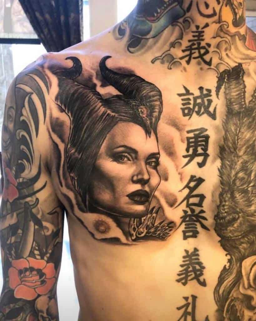 Chest Maleficent Tattoos Brighter Shade Tattoo