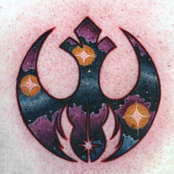 Chest Manly Rebel Alliance Tattoo Design Ideas For Men