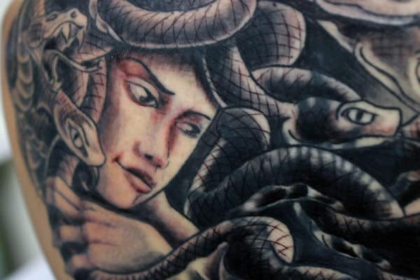 Chest Medusa Tattoos For Men