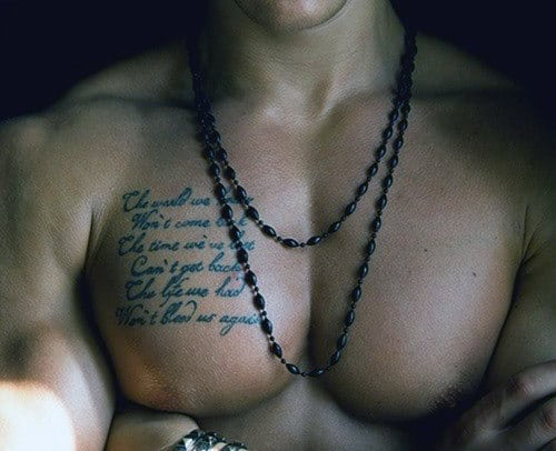 Chest Men's Quotes For Tattoos