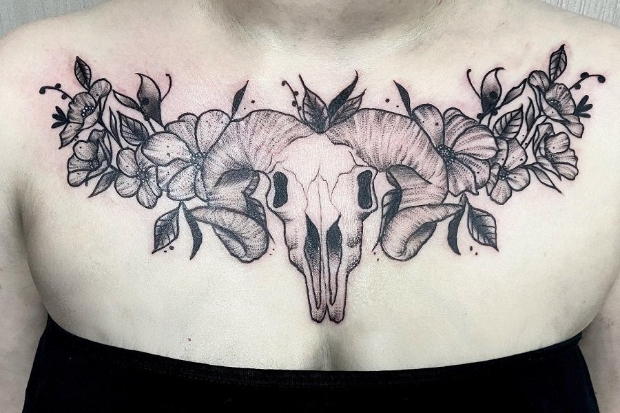Top 59 Best Ram Skull Tattoo Ideas – [2021 Inspiration Guide]