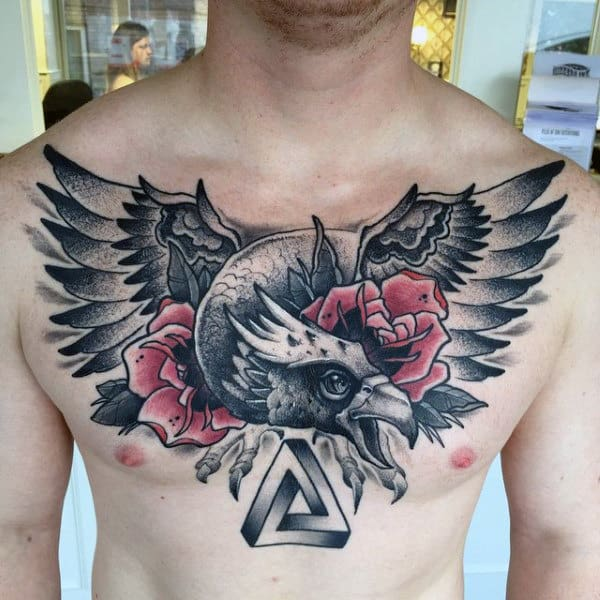 80 Eagle Chest Tattoo Designs For Men - Manly Ink Ideas