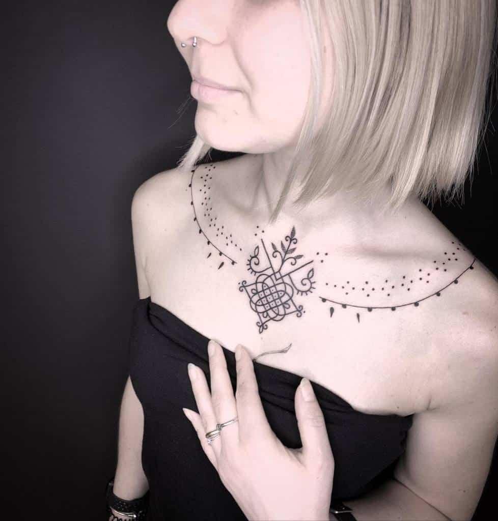 chest simple tribal tattoos manu_3occhio