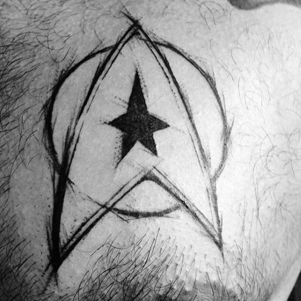 Chest Starfleet Insignia Small Mens Star Trek Tattoo Design Inspiration