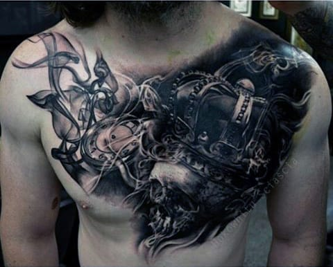 Chest Tattoos Smoke Men