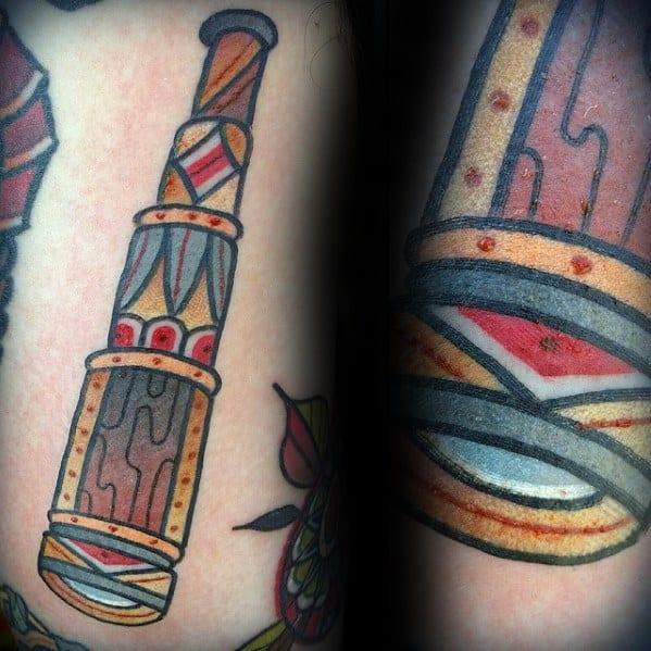 Chest Telescope Male Tattoos