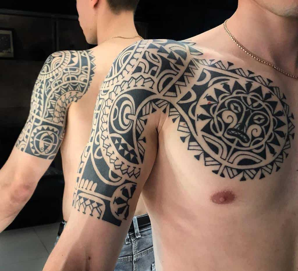 Chest Tiki Tattoo Ksutattoo