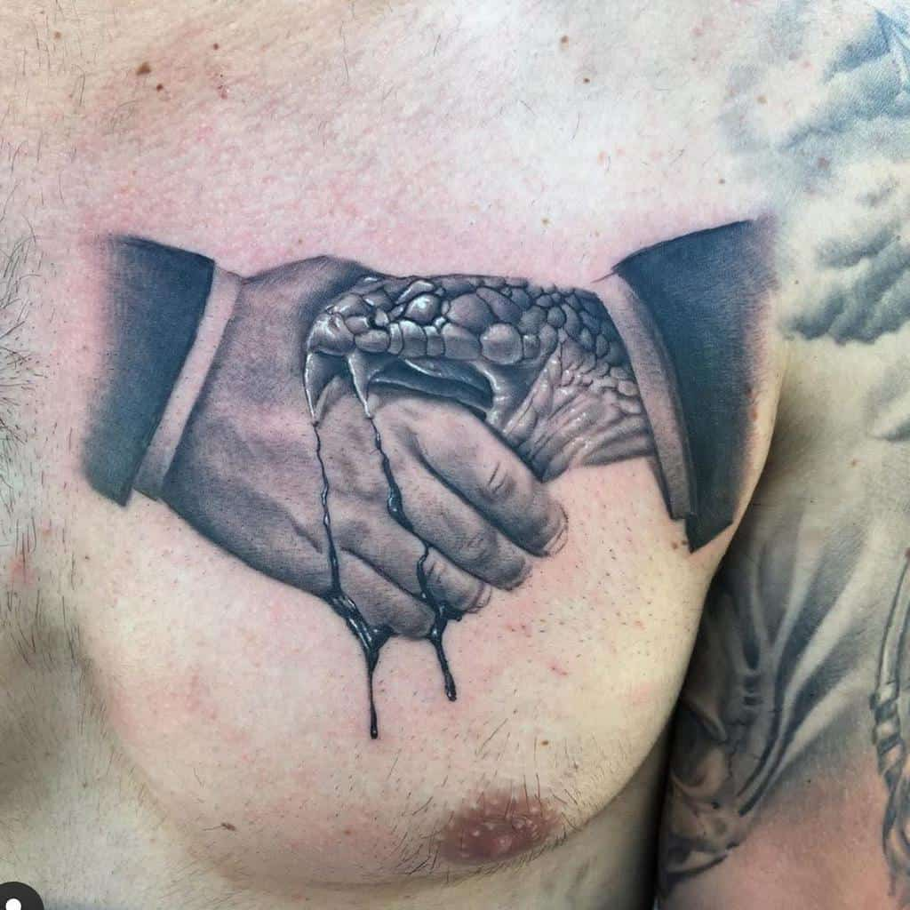 chest trust no one tattoos 346ink
