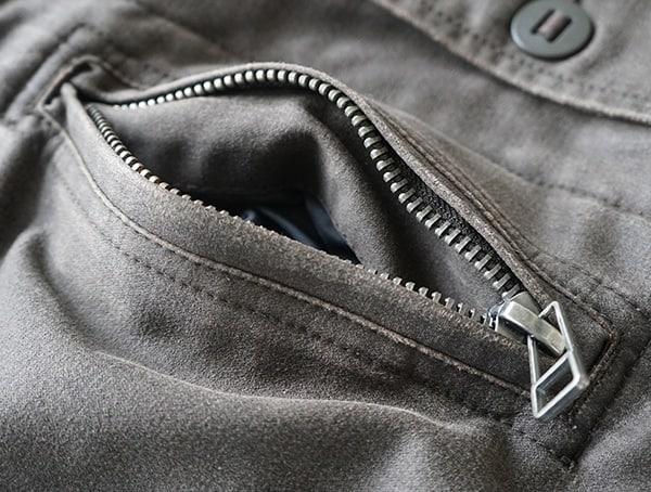 Chest Zippered Upper Pocket On Dakota Grizzly Tripp Mens Travel Coat