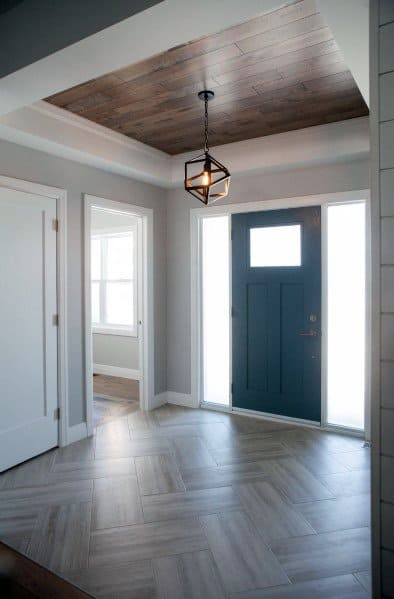 Chevron Pattern Entryway Tile Home Designs
