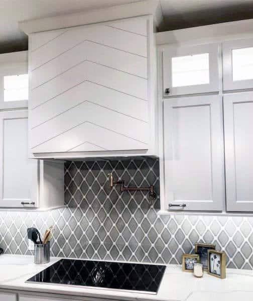 Chevron Wood Boards Home Kitchen Hood Ideas