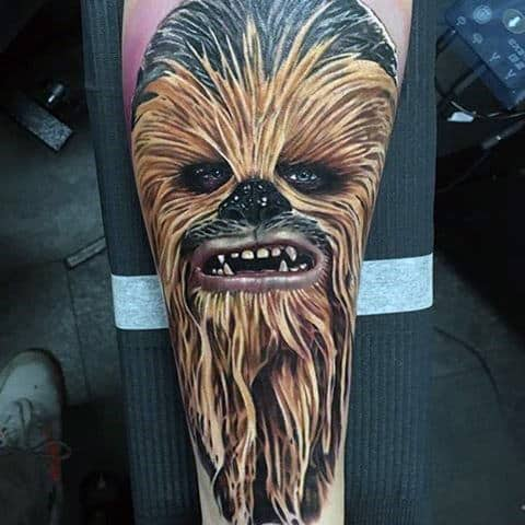 Chewbacca Star Wars Mens Amazing Tattoo Design Ideas