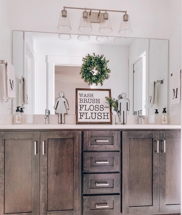 Chic Farmhouse Bathroom Vanity Kaitlynjanemiller