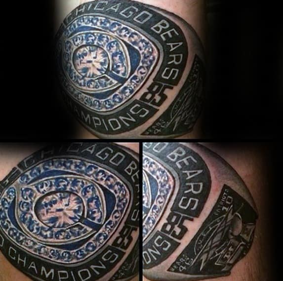 Chicago Bears Championship Ring Guys Tattoos