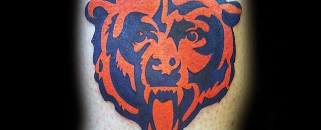 50 Chicago Bears Tattoos For Men – NFL Football Ink Ideas