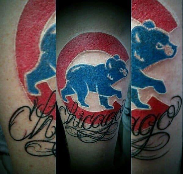 Chicago Cubs Arm Tattoos For Gentlemen