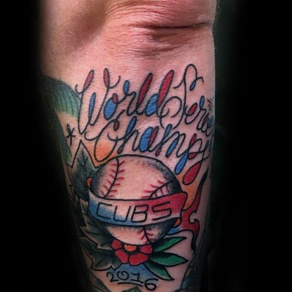 Chicago Cubs Tattoo Ideas For Gentlemen Outer Forearm