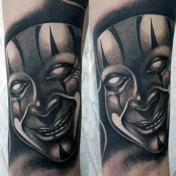Chicano Mask Mens 3d Realistic Tattoo Ideas