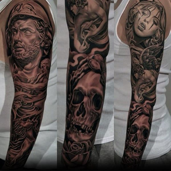 Chicano Unique Male Sleeve Tattoos