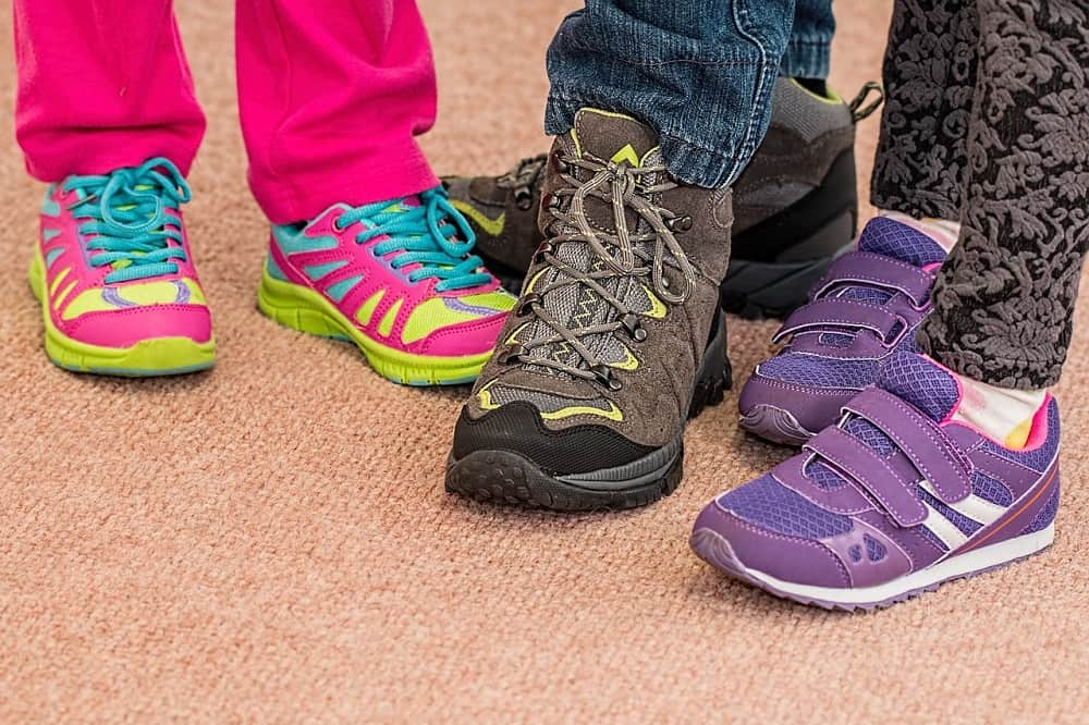 different types of childrens hiking shoes focus