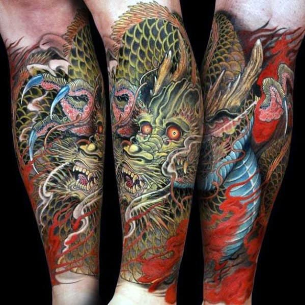 30 dragon forearm tattoo designs for men cool creature ideas. Black Bedroom Furniture Sets. Home Design Ideas