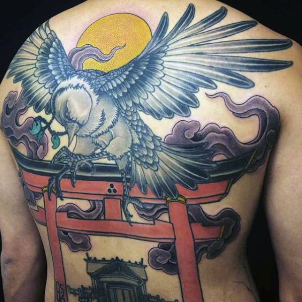 100 Crow Tattoo Designs For Men - Black Bird Ink Ideas