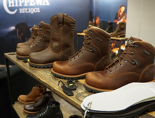 Chippewa Mens Leather Boots Display