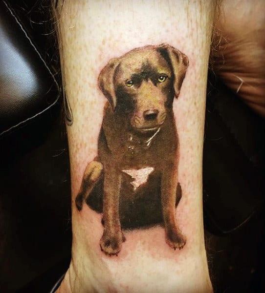 Chocolate Labrador Retriever Guys Wrist Tattoos