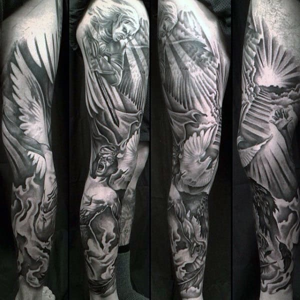 Christian Dove Tattoos For Gentlemen Full Seeve
