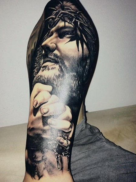 100 Christian Tattoos For Men - Manly Spiritual Designs