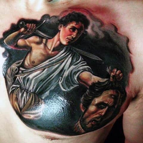 Christian Hebrew Tattoos For Men David And Goliath