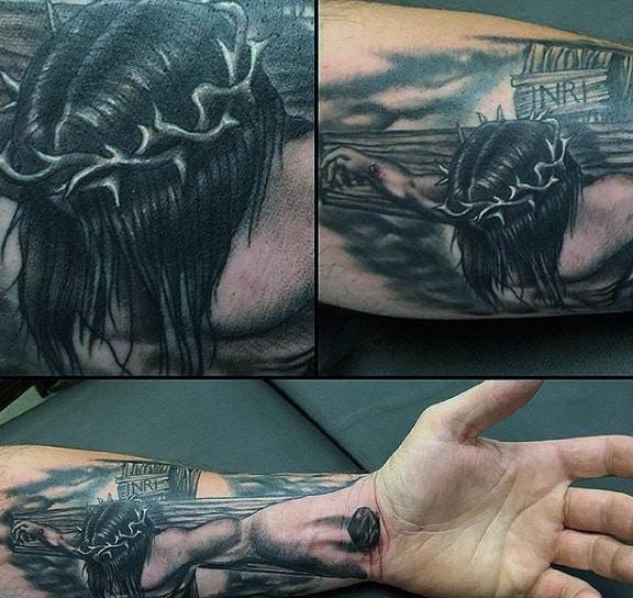 Christian Wrist Tattoo On Males