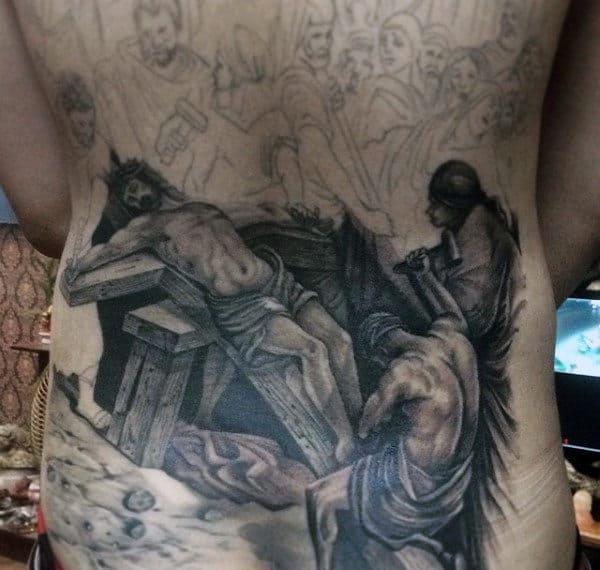 Christians Tattoos On Men Full Back