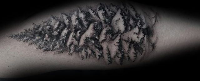 30 Christmas Tree Tattoo Ideas For Men Evergreen Designs