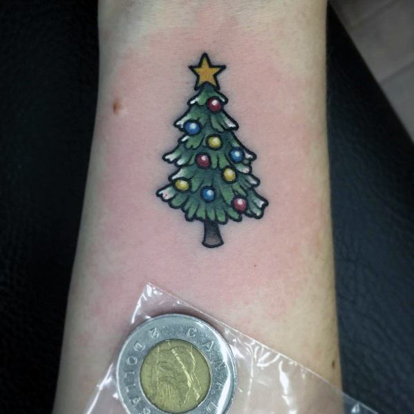 Christmas Tree Tattoo Inspiration For Men