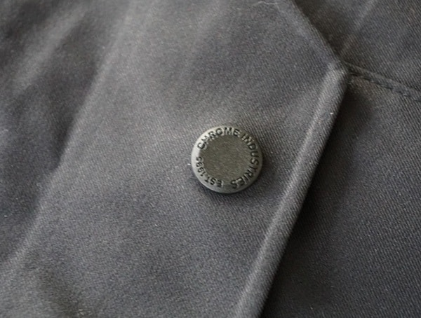 Chrome Industries Storm Seeker Shell Ms Button Detail On Top Of Pocket