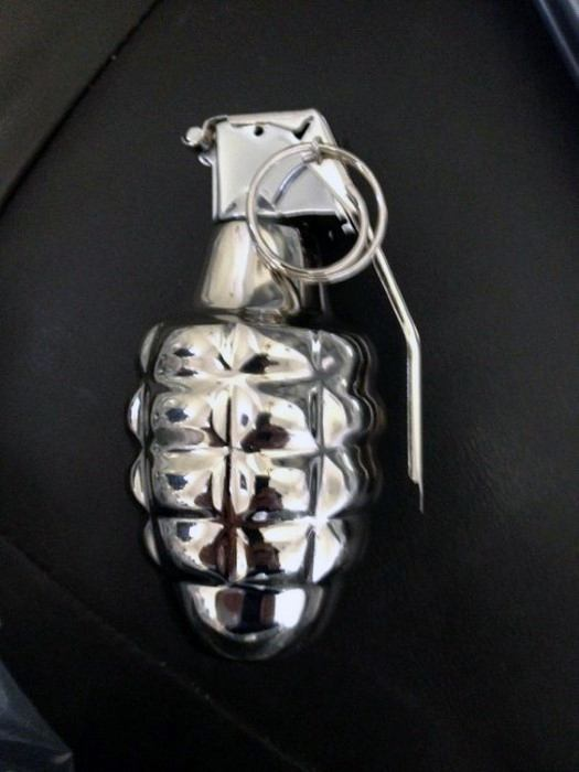 Chrome Polished Grenade Decor Cheap Man Cave Ideas