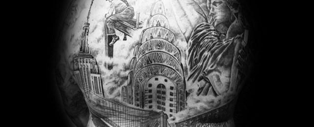 30 Chrysler Building Tattoo Ideas For Men – Skyscraper Designs