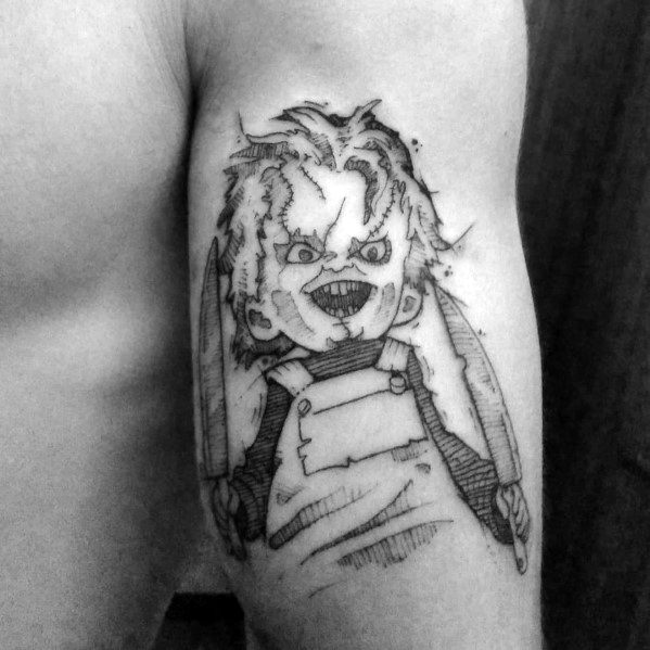 0e8002bd1 80 Chucky Tattoo Ideas For Men - Horror Movie Designs