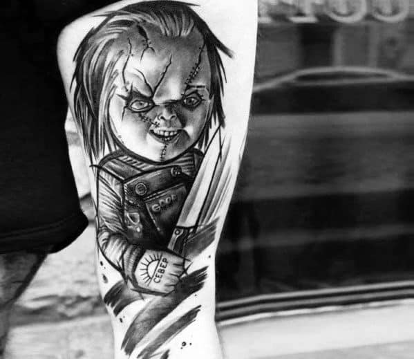 Chucky Tattoos Black And White