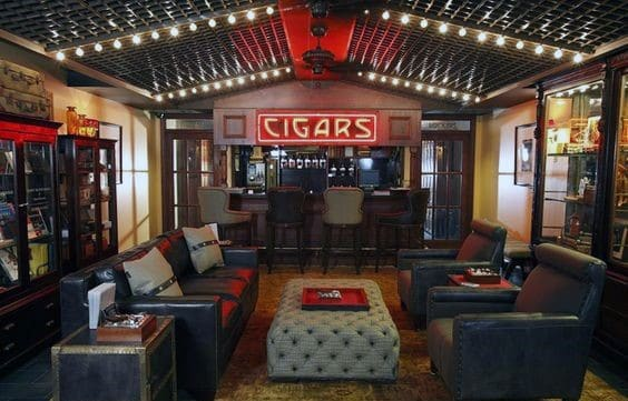 Cigar Room Awesome Man Caves For Men