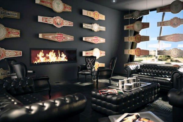 Cigar Themed Guys Awesome Man Caves