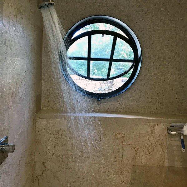 Circle Design Ideas Shower Window