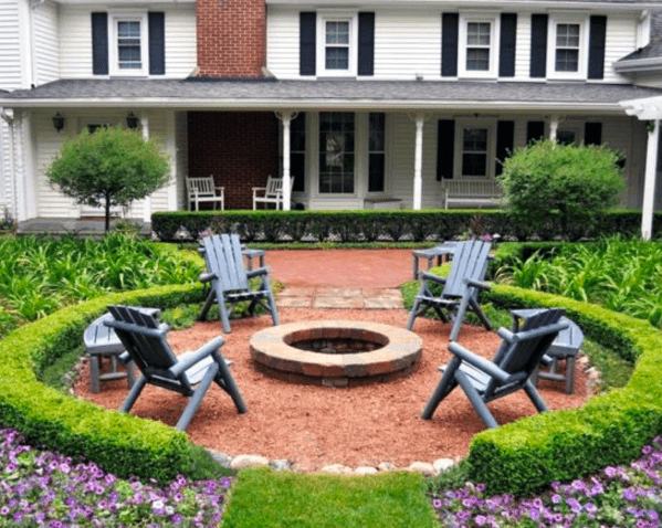 Circle Fire Pit Home Design Ideas Gravel Patio