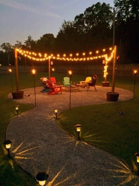 Circle Patio String Light